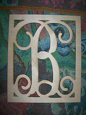 Unfinished Wood Letters Fancy Vine Monogram 17.5 inch tall