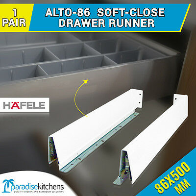 1 x alto-86 drawer runners kitchen vanity 500mm soft close CABINET cupboard  new