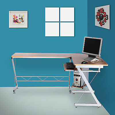 Corner Computer PC Desk For The Home Office Writing Workstation Furniture Table