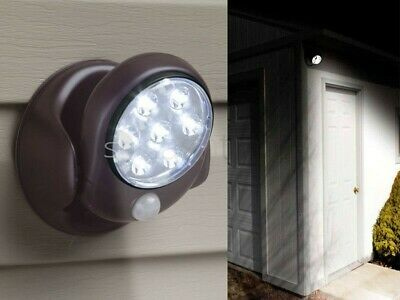 New Motion Activated Cordless Sensor 7 Led Light Indoor Outdoor Garden Wall Shed