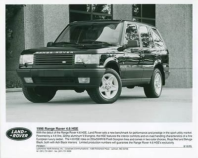 1996 Range Rover 4.6 HSE Photo Poster zch4218