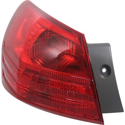 Halogen Tail Light For 2008-2013 Nissan Rogue Left Red Lens w/ Bulb(s)