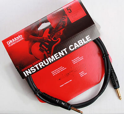 Planet Waves PW-G-05 5' Custom Series Intrument Cable. Lifetime Warranty