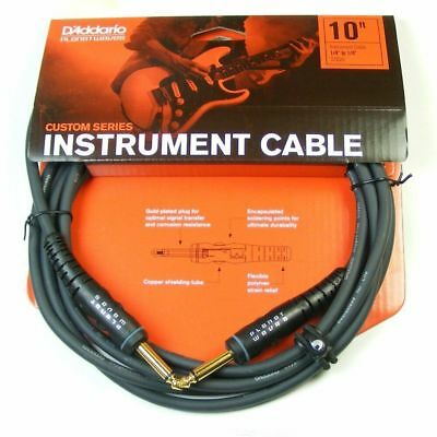 Planet Waves PW-G-10 10' Custom Series Intrument Cable.Lifetime Warranty