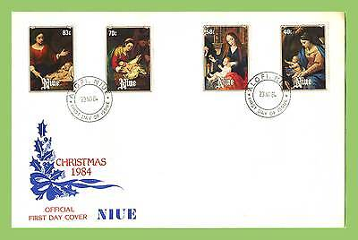Niue 1984 Christmas paintings set on First Day Cover