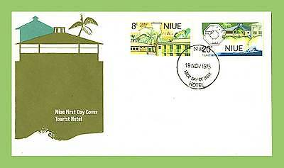 Niue 1975 Tourist Hotel set First Day Cover, unaddressed