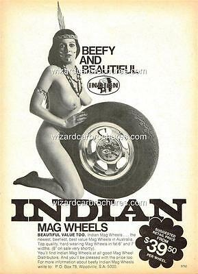 1974 Indian Mags Holden Ford A3 Sexy Hot Girl Poster Ad Advert Advertisement