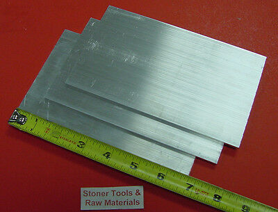 "3 Pieces 1/8"" X 4"" ALUMINUM 6061 FLAT BAR 6.70"" long T6511 .125"" New Mill Stock"