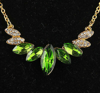 Environmental Austrian Crystal 14K Gold Plated Women's Necklace pendant  ND0497