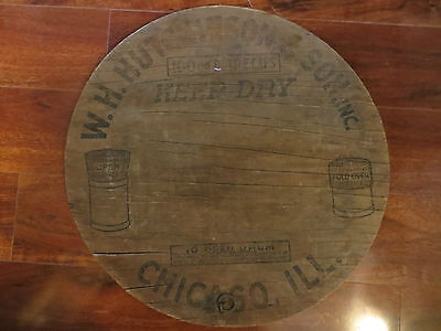 Wooden Barrel.advertising Sign,w.h.hutchinson&son,100Gr.bottle Caps,keep Dry