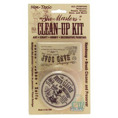 Masters Artists Clean Up Kit. Brush & Hand Cleaner For Oil, Acrylic and more.
