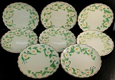 "SEVEN (7) Mottahedeh Daisy Daisies 6"" Majolica Bread Plates Made in Italy"