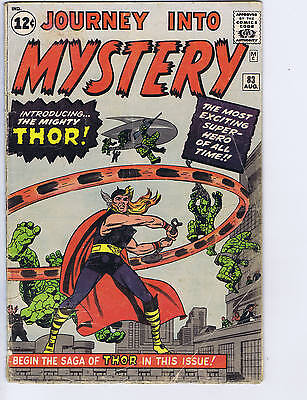 Journey into Mystery #83 Marvel 1962 Origin/1st appearance Thor
