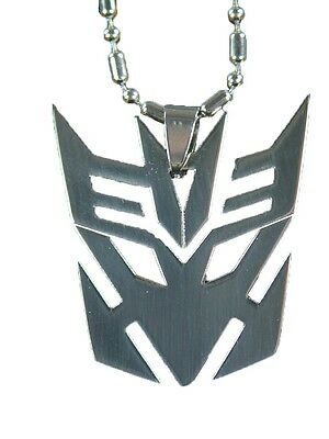 """BUTW- Stainless Steel Transformers Decepticon  Pendant 24"""" ball chain  4141E"""