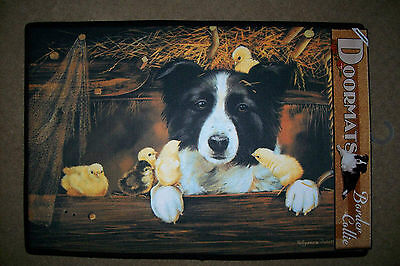 DOGGY DOOR MATS - Decorative Dog Breed Specific Welcome Mat - Border Collie Rug