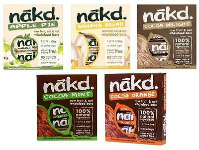 Nakd Fruit & Nut Bars Mixed Case Selection  *VEGAN, COLD-PRESSED, RAW, VARIETY*