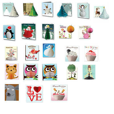 Honeycomb Pop Up Greetings Card with envelope lots of fab designs - you choose