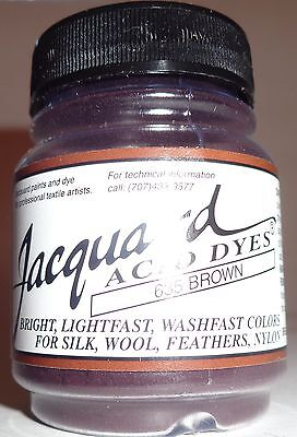 Jacquard Dyes 'Brown'' Wool Mohair Alpaca Nylon  Animal Fibres