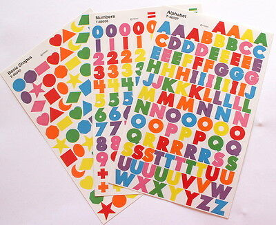 Scrapbooking No 134 - 240 + Small Alphabet / Letters, Numbers & Shape Stickers