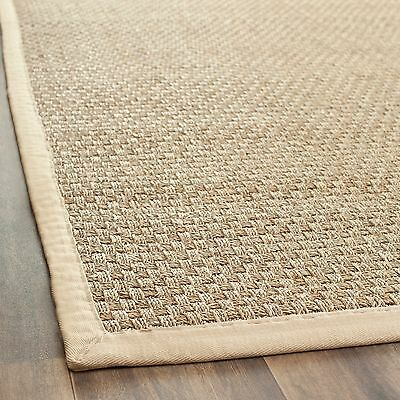 Safavieh Casual Natural Fiber Natural and Beige Border Seagrass Runner (2' 6 x 1
