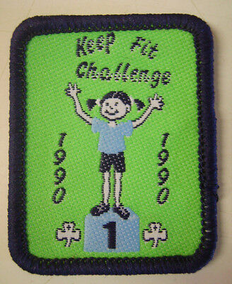 1990 GIRL GUIDES/BROWNIES KEEP FIT CHALLENGE Aust ? BADGE/PATCH NEW COLLECTABLE