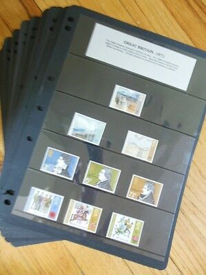 GREAT BRITAIN : Neat clean collection between 1971-1999. All VF, MNH Face £378