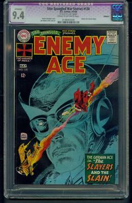 Star Spangled War Stories #138 (1968) CGC Graded 9.4 Restored ~ Enemy Ace