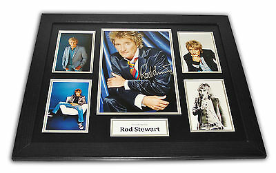 Rod Stewart Signed Photo Large 20x16 Framed Memorabilia Autograph Display + COA