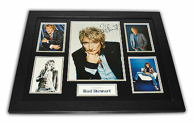 Rod Stewart Signed Photo 20x16 Framed Music Memorabilia Autograph Display + COA