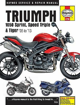 Haynes 4796 Repair Manual Triumph 1050 Sprint St Speed Triple Tiger 2005 - 2013