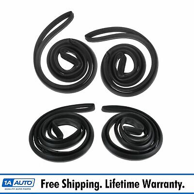 Door Weatherstrip Seals Front and Rear Set of 4 for Buick Chevy Sedan Oldsmobile