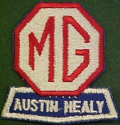 MG/Austin Healy Automobile on Blue Twill Patch