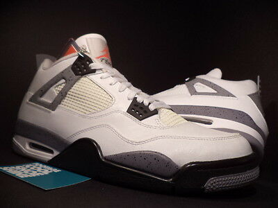 new concept f626d 93638 Nike Air Jordan IV 4 Retro WHITE BLACK CEMENT COOL GREY FIRE RED 308497-103