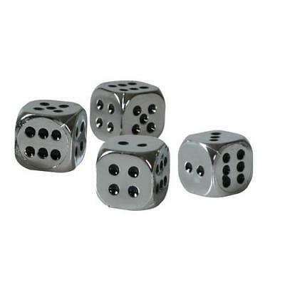 Set 4 tappi coprivalvola California-Dices - Cromo
