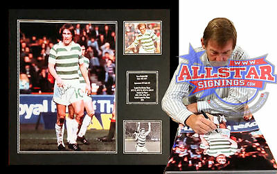 """FRAMED KENNY DALGLISH SIGNED 16""""x20"""" GLASGOW CELTIC PHOTOGRAPH SEE PROOF"""