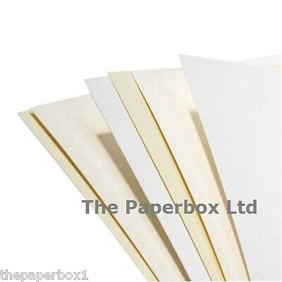 A4 Sheets of Craft Paper - Choose smooth, linen, hammer, ivory, white, cream