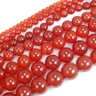 15'' Red Agate Gemstone Round Beads 4mm 6mm 8mm 10mm 12mm 14mm 16mm