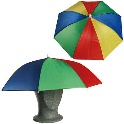 Umbrella Hat Cap Head Fishing Camping Hiking Sun Shade Outdoor Brolly Foldable