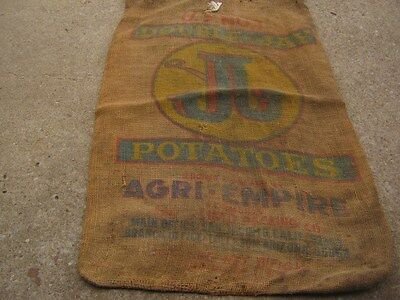 Vintage Double Jay Potatoes Agri - Empire California Arizona burlap sack