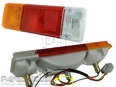Taillights PAIR with Square Plug fit Fits Toyota Landcruiser 70 75 78 79 Series