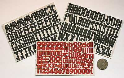 SCRAPBOOKING NO 039 - OVER 150 DIE CUT ALPHABET STICKERS Black and Red Shades