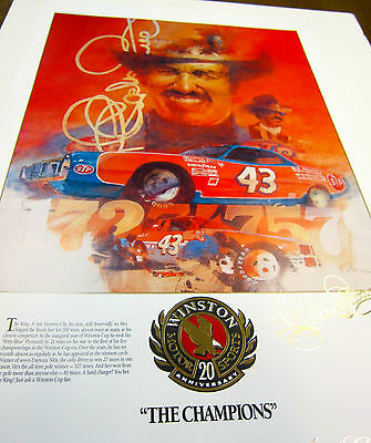 Richard Petty Limited Edition Nascar Winston Cup Champion Lithograph