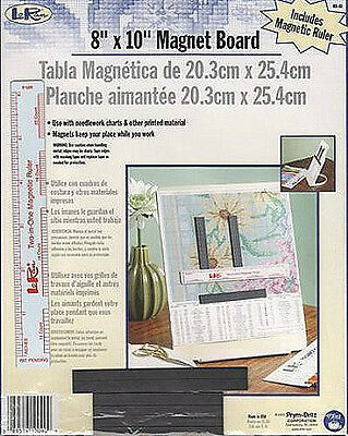 Loran Chart Holder Magnetic Board Includes Ruler and Magnetic Markers