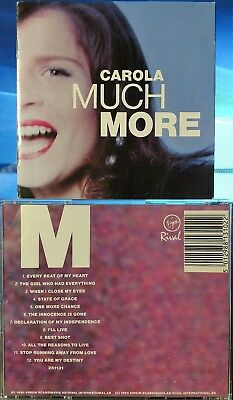 Carola - Much More (CD, 1990, Virgin Scandinavia AB, Germany) RARE