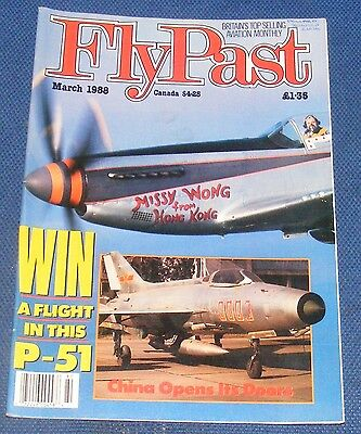 Flypast Magazine March 1988 - China Opens Its Doors/flier Tuck!