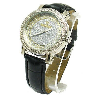 Genuine Women's Diamond Iced Out Silver Glittering Face Watch