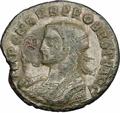 PROBUS 279AD Authentic Silvered Ancient Roman Coin Sol Sun Cult Horse i39171