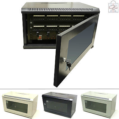 "HIGH QUALITY 6U 19"" Comms Cabinet Network Data Wall Rack Patch Panel Switch, PDU"