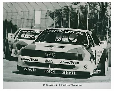 1988 Audi 200 Quattro Trans Am Race Car Automobile Factory Photo ch4763