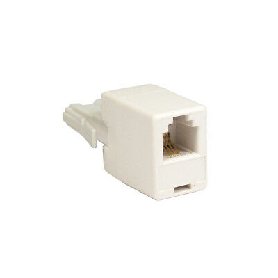 RJ11 to BT Plug Adaptor - Connect ADSL Cable to BT Telephone Phone Socket